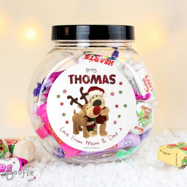 Boofle Christmas Reindeer Sweet Jar