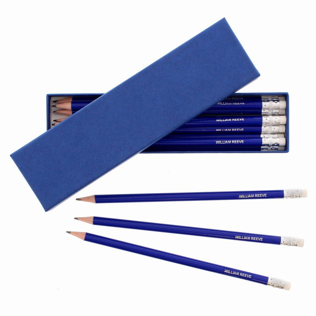 Box of Blue Pencils
