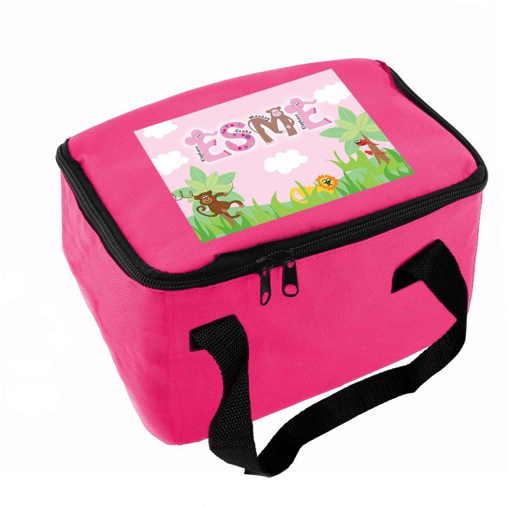 Girls Animal Alphabet Lunch Bag