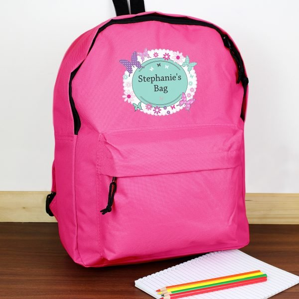 Butterfly Pink Backpack