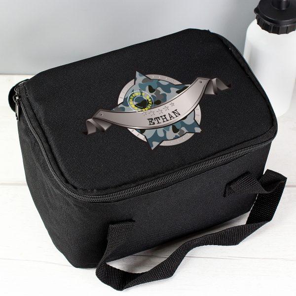 Army Camo Black Lunch Bag