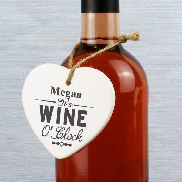 Wine O'Clock Ceramic Heart