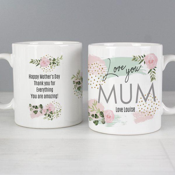 Abstract Rose Mug
