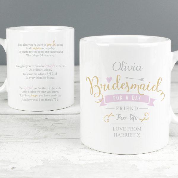 I Am Glad... Bridesmaid Slim Mug