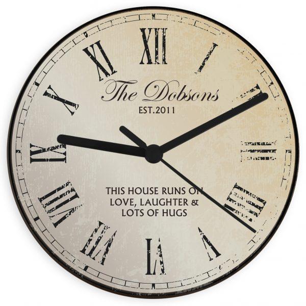 Rustic Message Glass Clock