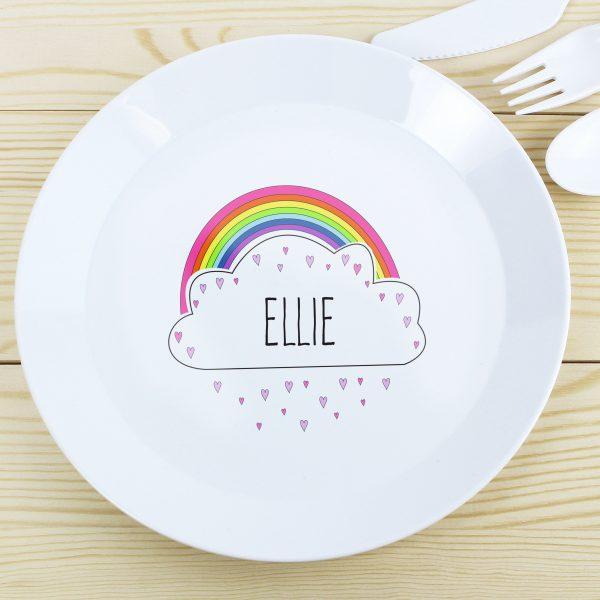 Rainbow Plastic Plate
