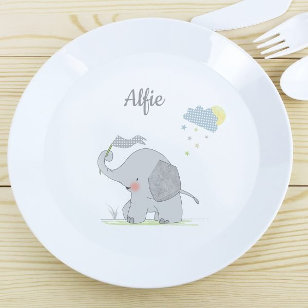 Hessian Elephant Plastic Plate