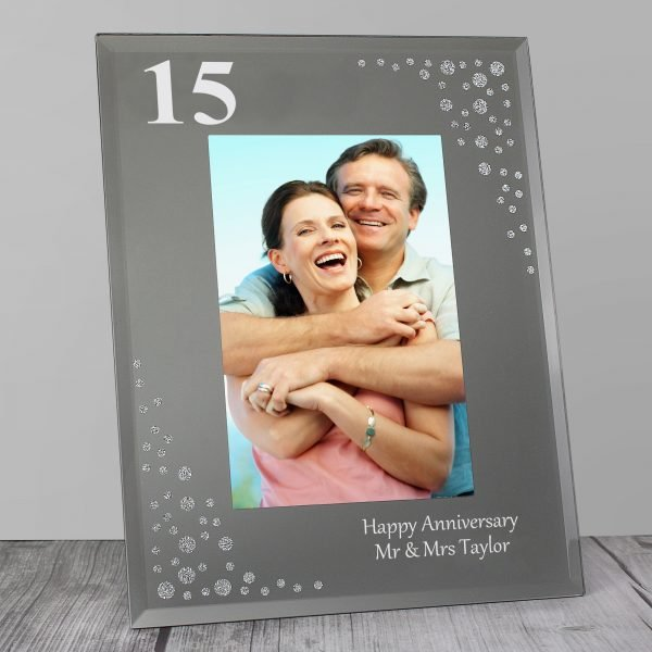 Big Age 6x4 Diamante Glass Photo Frame