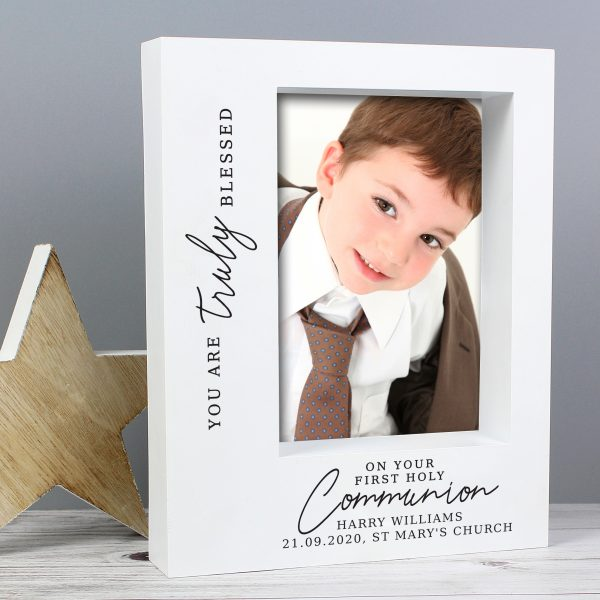 Truly Blessed' First Holy Communion 7x5 Box Photo Frame