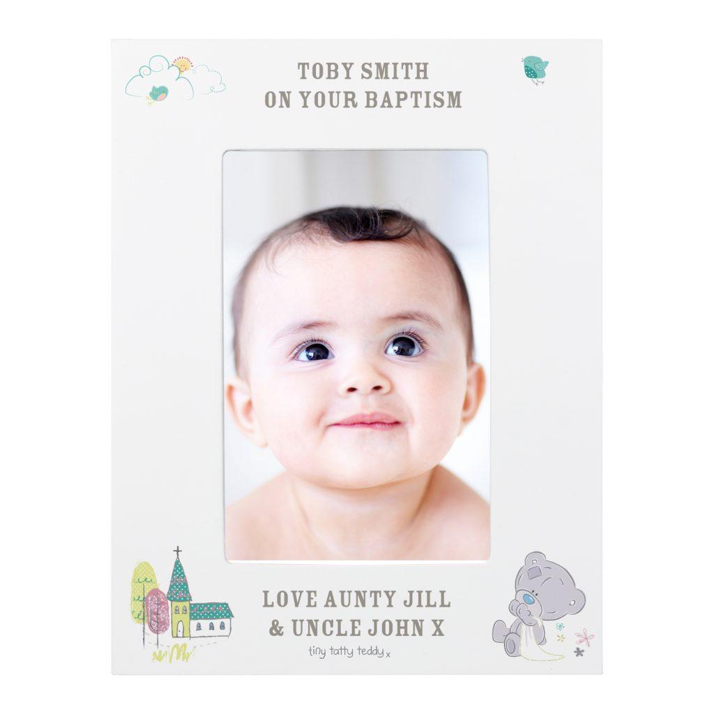 Tiny Tatty Teddy Christening 6x4 Frame