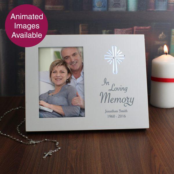 Cross Loving Memory 6x4 Light Up Frame