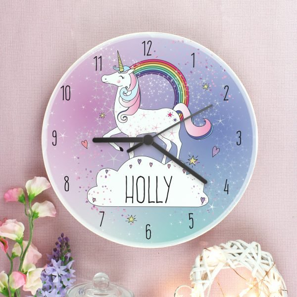 Unicorn Wooden Clock