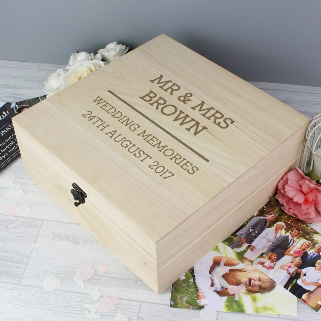 Any Message Large Wooden Keepsake Box