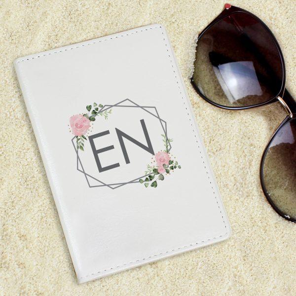 Floral Cream Passport Holder