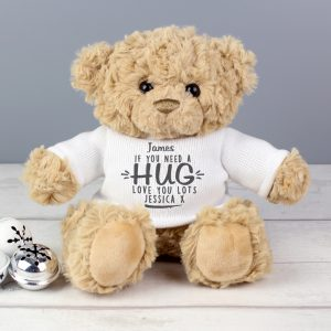 Personalised If You Need A Hug Teddy Bear
