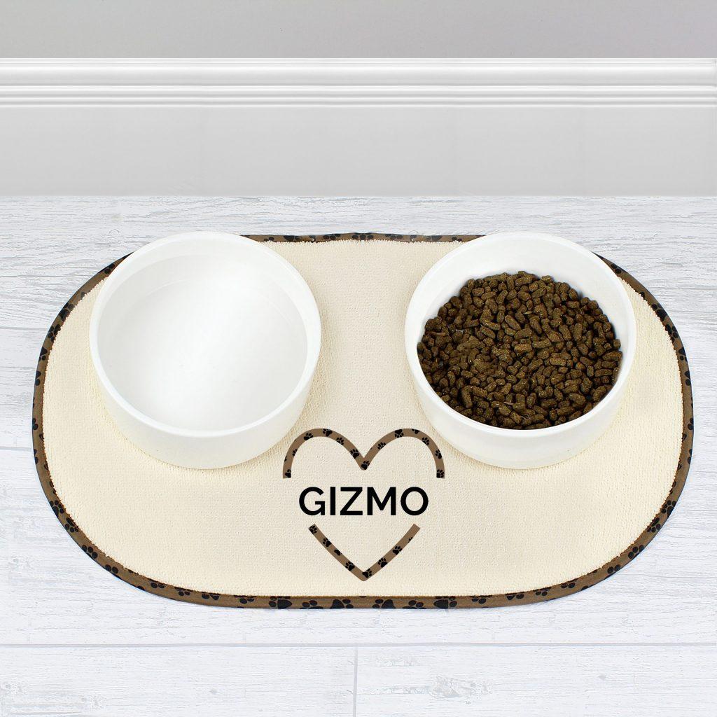 Personalised Love Heat Pet Bowl Placemat