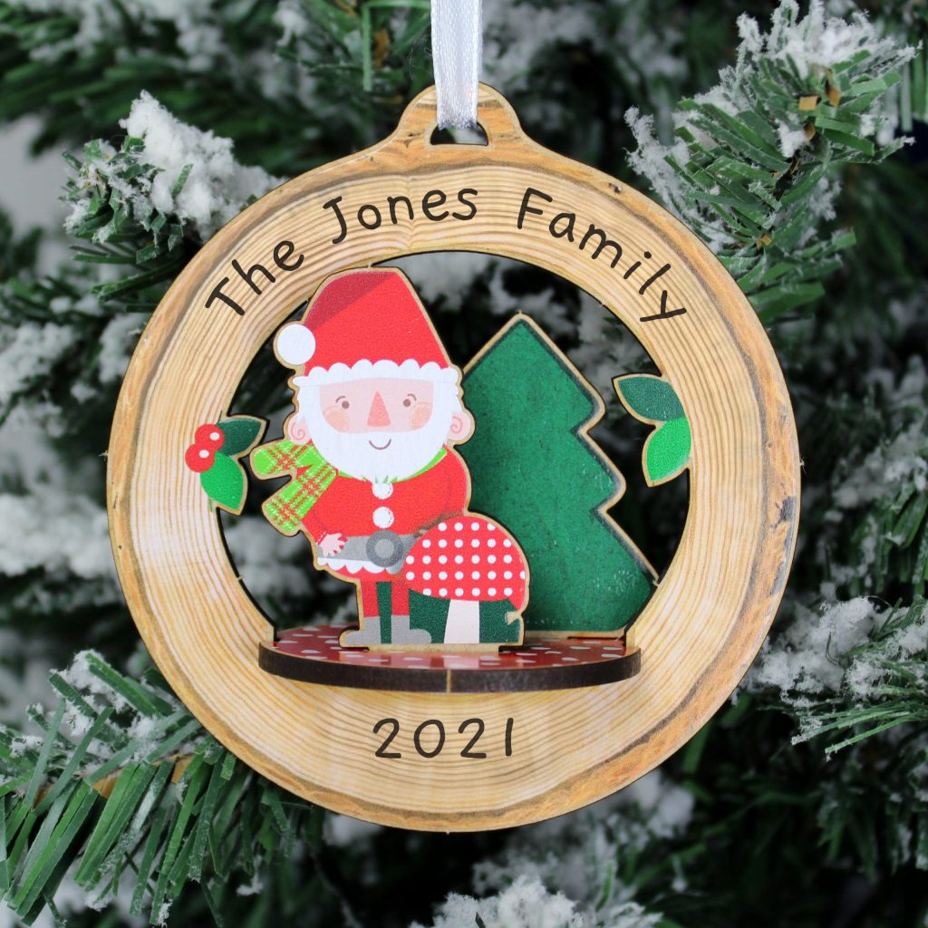 Personalised Make Your Own Toadstool Santa 3D Decoration Kit