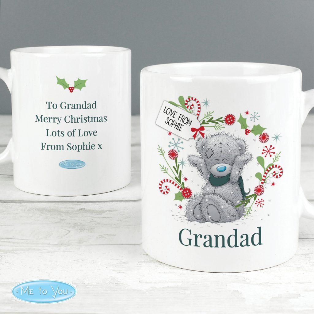 Personalised Me to You 'For, Grandad, Dad' Christmas Mug