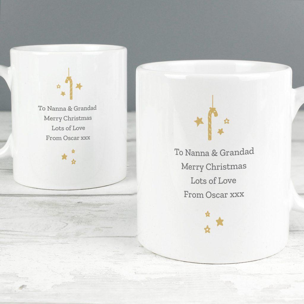 Personalised 'On Your First Christmas As' Mug Set