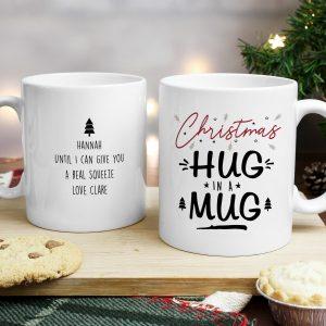 Personalised Christmas Hug Mug