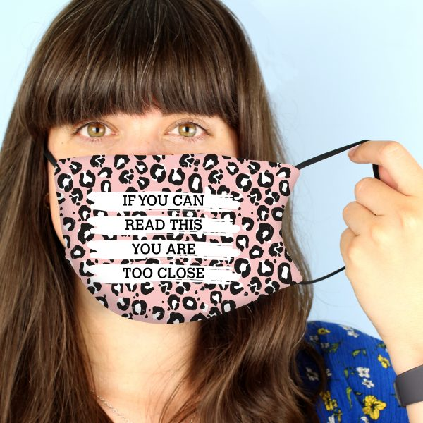 Personalised Leopard Print Face Covering