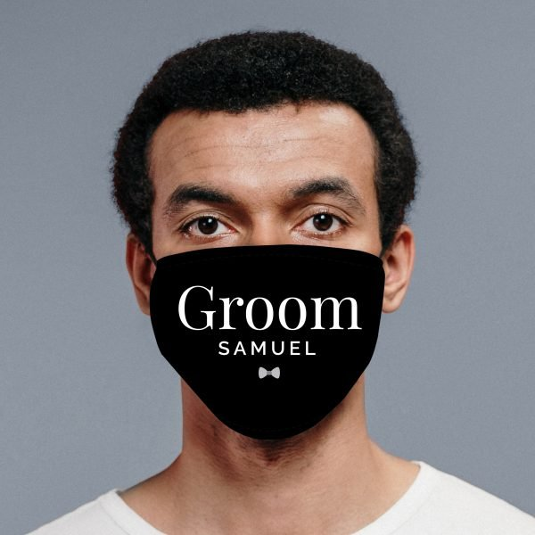 Personalised Groom Face Covering