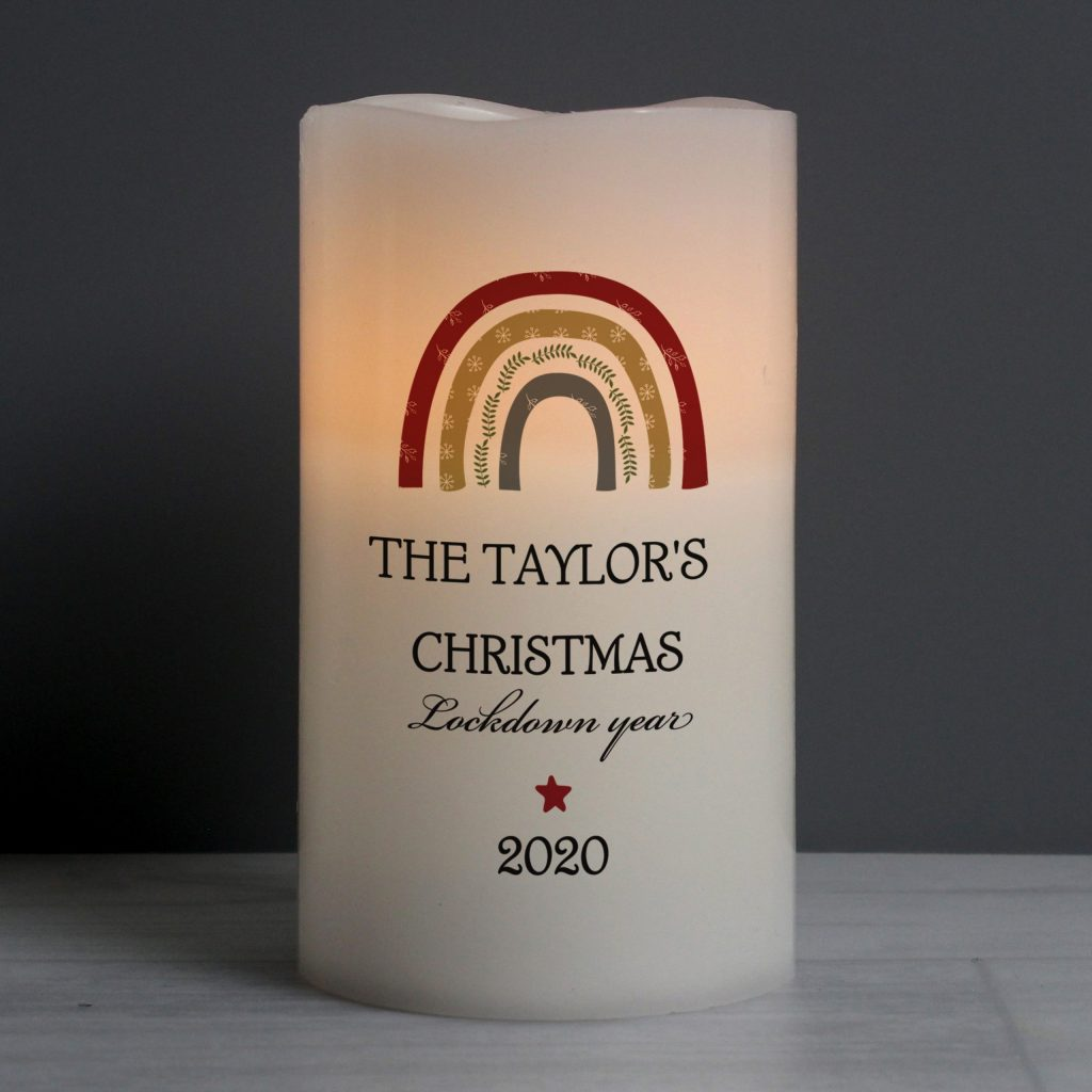 Personalised Christmas Lockdown LED Candle
