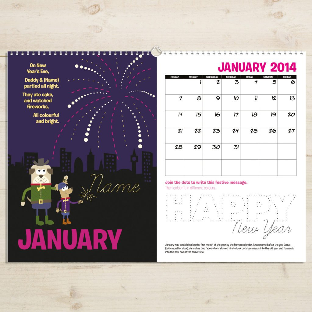 Personalised Months of the Year Activity Book