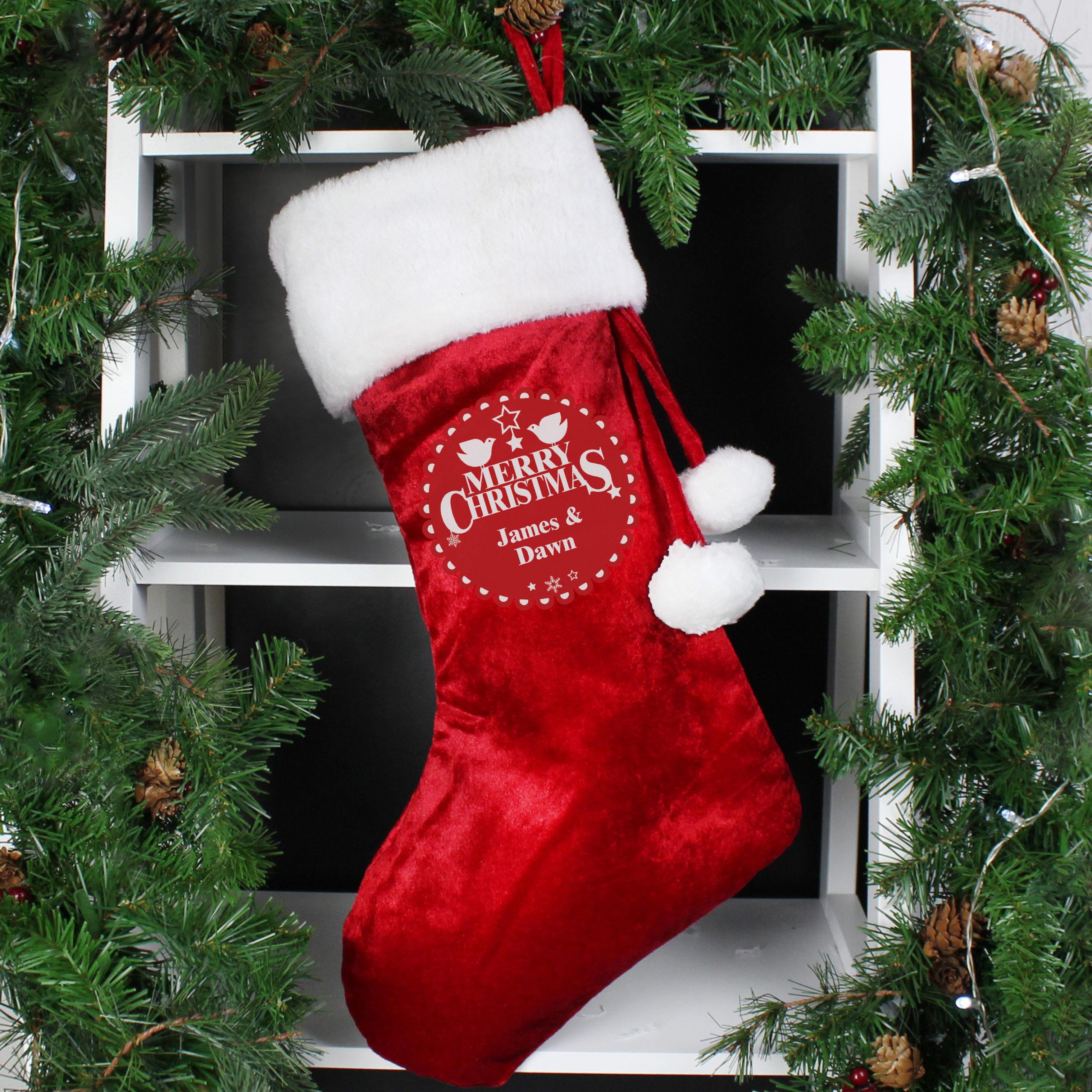 Christmas Wishes Luxury Stocking